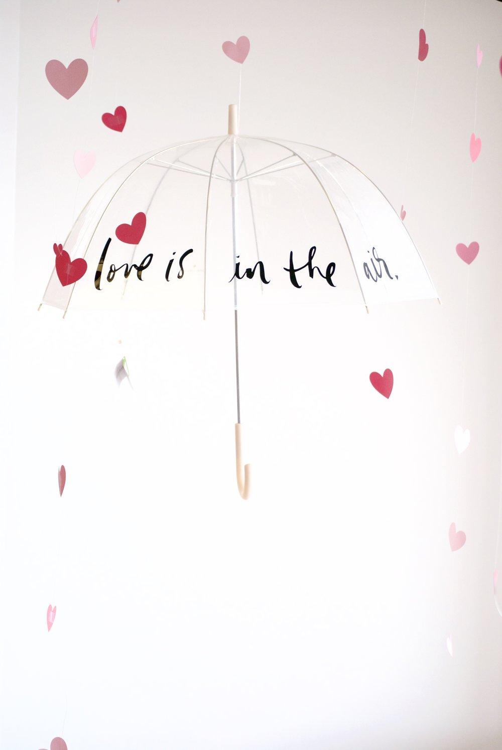 kate spade love is in the air umbrella