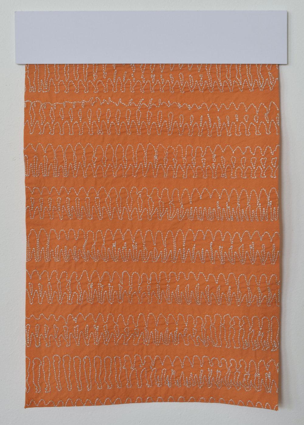 Taania,  Foundations  by Kate Nash, digital embroidery, horizontal stripe
