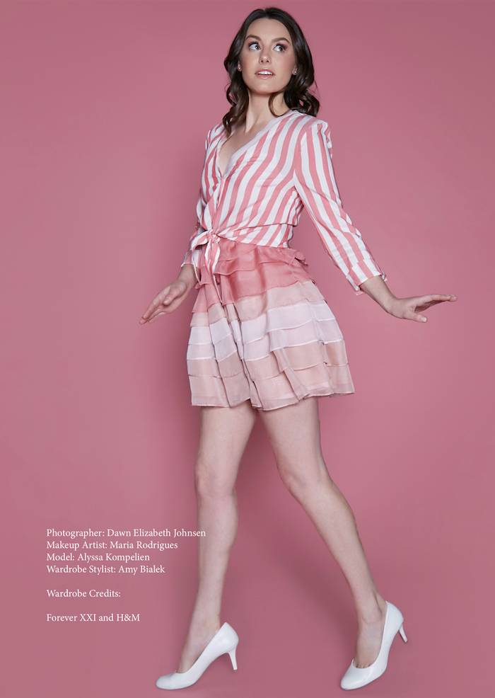 """""""PRETTY IN PINK"""" EDITORIAL PUBLISHED IN BEAUTYMUTE MAGAZINE. PHOTOGRAPHED BY DAWN JOHNSON, STYLED BY AMY BIALEK, H AND M BY MARIA RODRIGUES."""