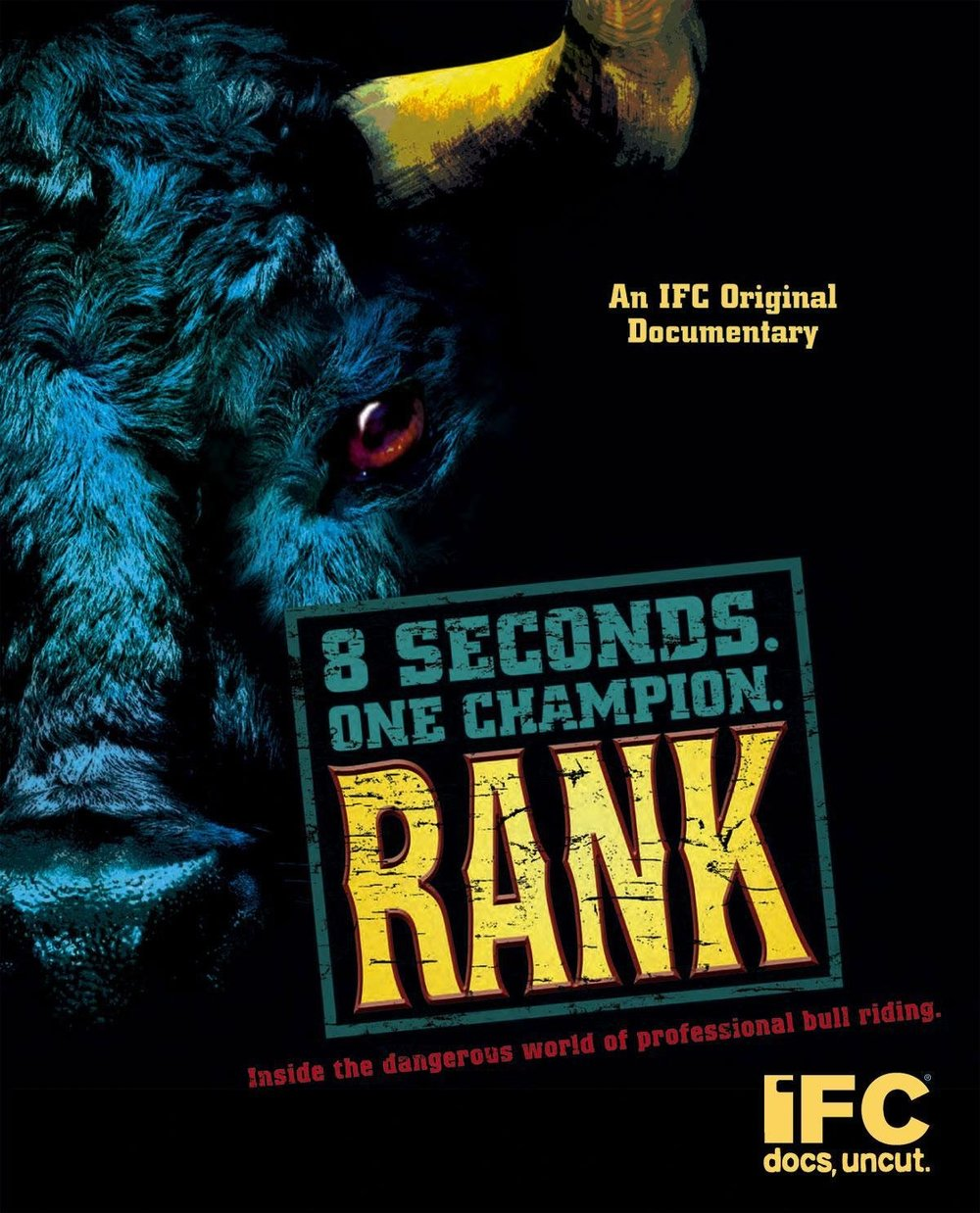 """Rank - After the success of The Smashing Machine The Independent Film Channel (IFC) approached filmmakers John Hyams and Jon Greenhalgh, looking for the same gritty realism, but in a different arena. Rank follows three elite bull riders journeying to Las Vegas for the PBR World Championships. The stakes are high for these young men, and they put their lives on the line every time they climb down on a two thousand-pound bucking bull. To quote Dr. Tandy Newton, the head of the PBR medical staff, """"It's not a matter of IF a professional bull rider will suffer a horrific injury, it's a matter of WHEN.""""Rank premiered at the 2006 South by Southwest Film Festival, followed by a long run on cable television (IFC). """"Rank is an evocative, beautifully shot look at a classic piece of Americana. The filmmakers opt for an almost meditative, ethereal style that results in a unique take on a subject usually treated in a more breathless and sensationalist manner."""
