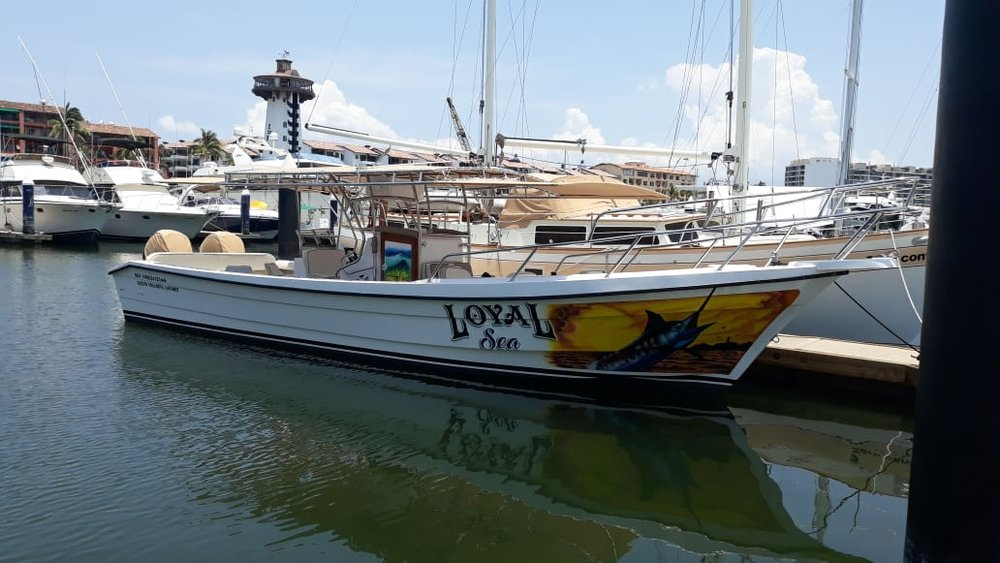 32´ Loyal Sea - SUPER PANGA WITH BATHROOMMAX ANGLERS: 8ENGINES: TWIN4 HOURS: $290 USD6 HOURS: $4208 HOURS: $