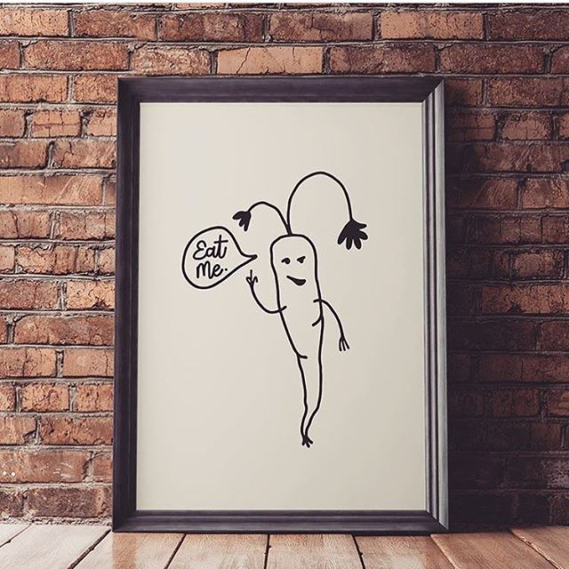 Eat your veggies, y'all... . . . #eatme #eatyourveggies #veggies #vegan #vegetarian #plantbased #plants #illustration #design #wallart #snarky #humor #funny #funnyart #veganart