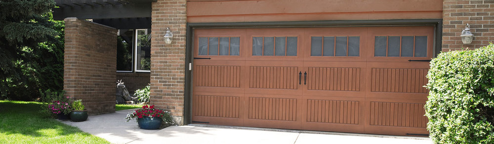 9800 Fiberglass Garage Door Sonoma Cherry