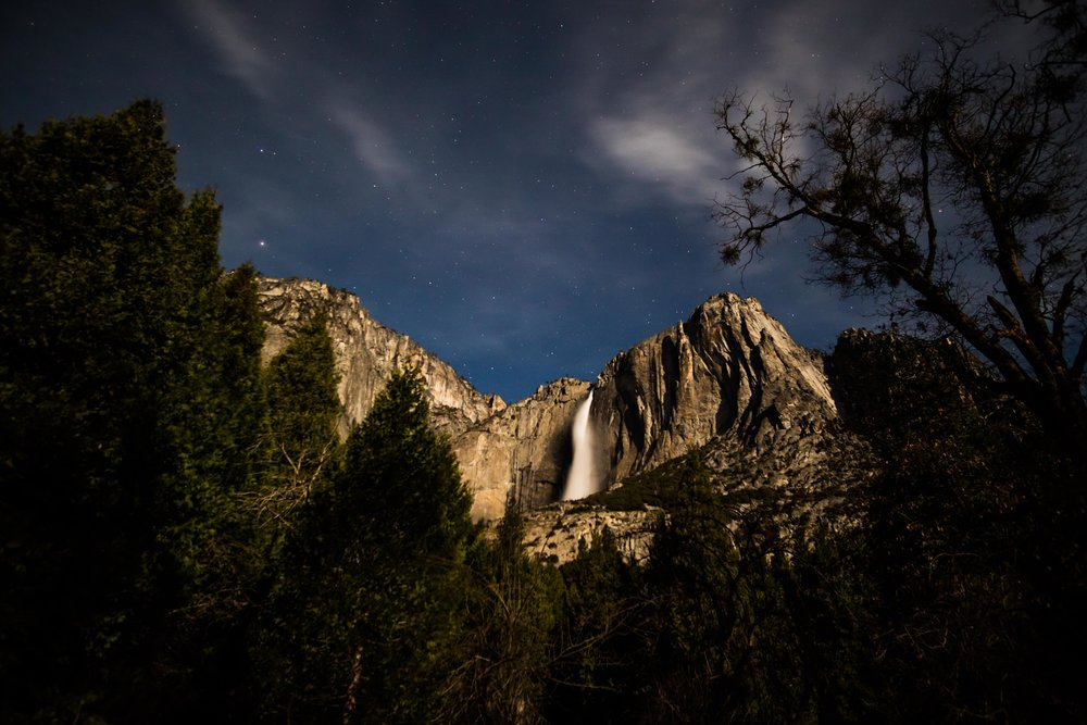 Yosemite Falls by Moonlight.