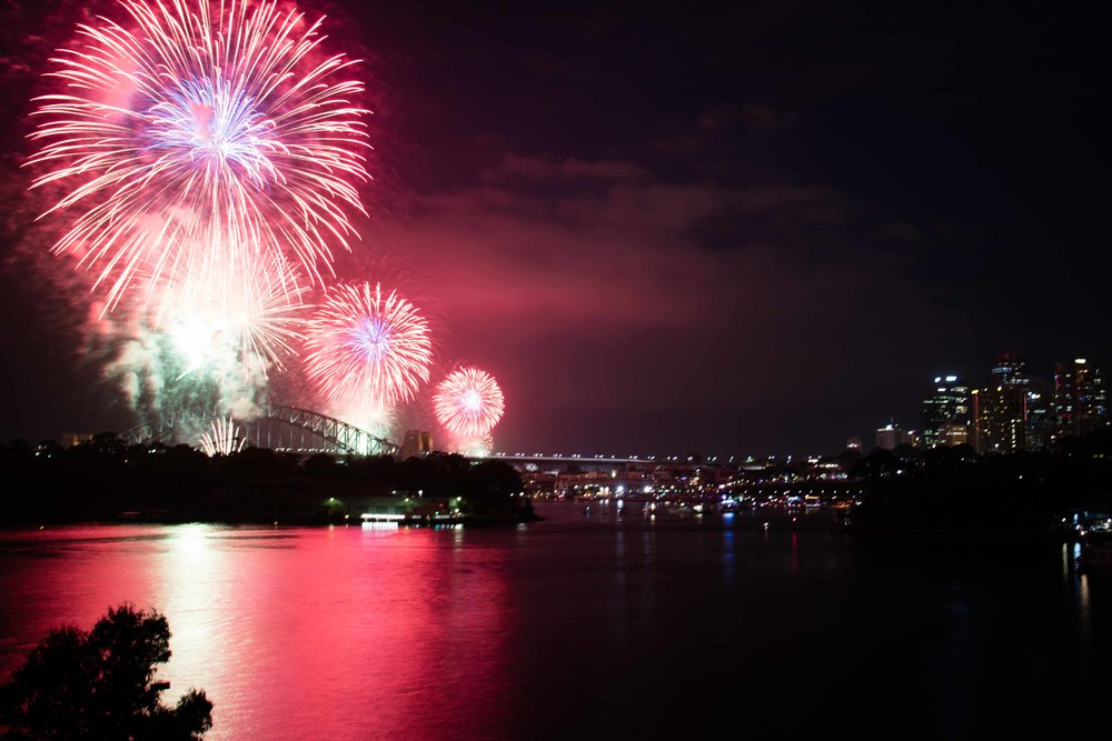 New Year's fireworks in Sydney, AUS.