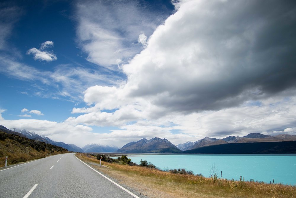 On the road to Mt. Cook.