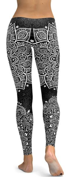 B&W MANDALA  LEGGINGS - $87.99