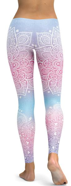 PASTEL BLUE & PINK BANDALA LEGGINGS - $87.99