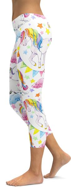 WATERCOLOR UNICORN CAPRIS - $79.99