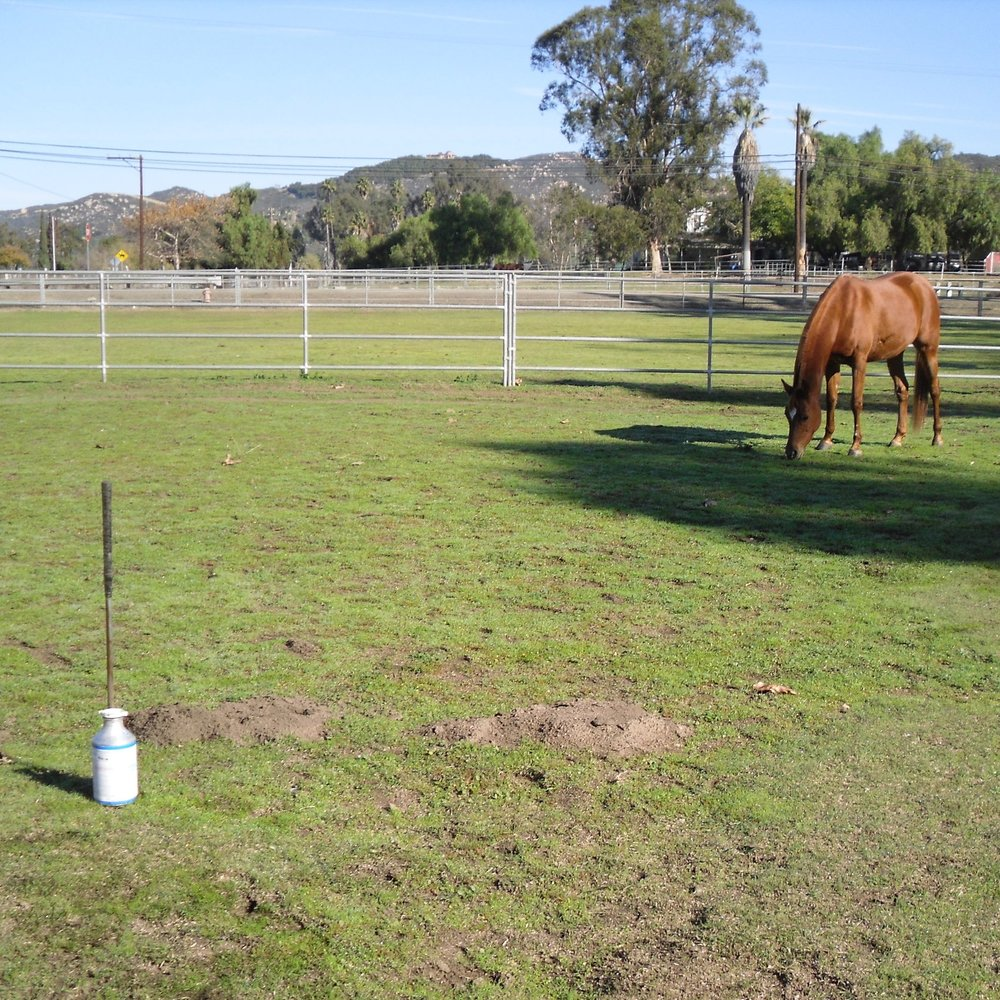 Gopher fumigation for equestrian properties. No secondary poisoning to non-target animals.
