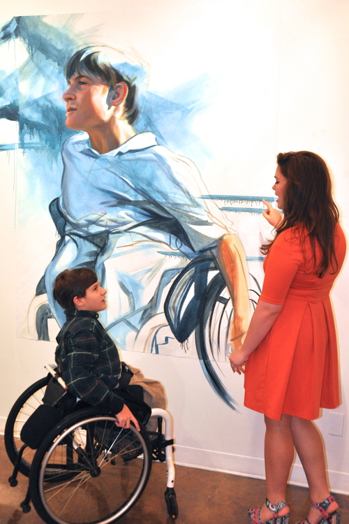 Discussing the painting with Ben, the boy portrayed