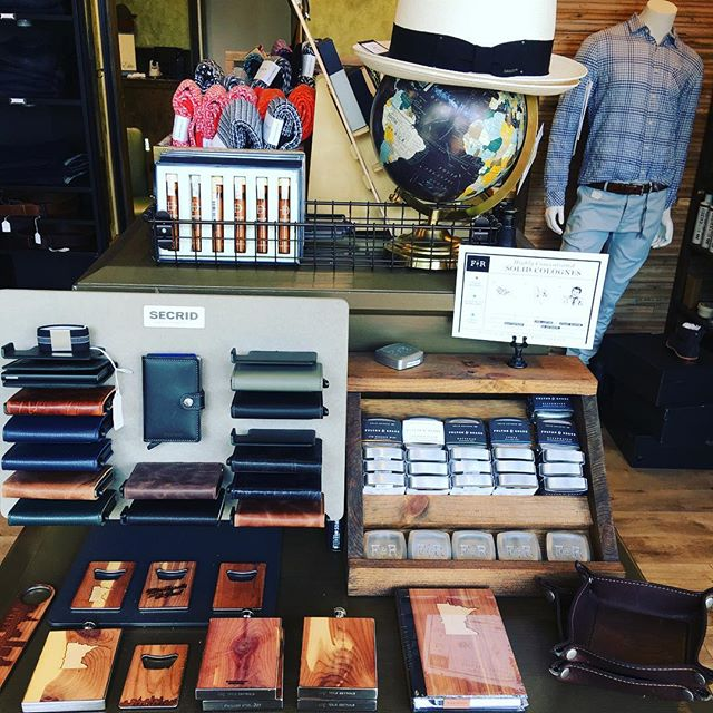 @fellas_salon we've got everything you can possibly need for Dad this fathers day!! Nifty rfid protective Wallets with built in card ejector, 💯% SuPima cotton socks, resin colognes that they can take anywhere! Toothpicks from one of the last remaining saw mills in North America?! Come down and see for yourself why your dad will love everything here! #fellashaberdasheryandsalon #fathersday #stpaul #secrid #fultonroark #daneson