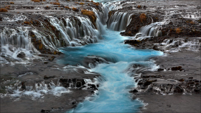 Brúarfoss, Iceland Source:  Make Time to See the World   Pinterest Inspiration