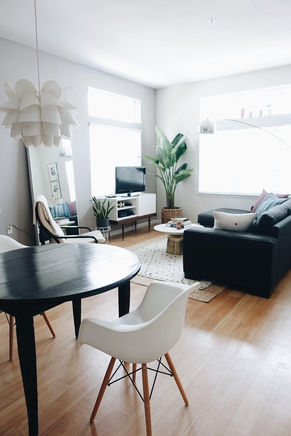 Scope: Minimal Design Concept For A Small Living And Dining Area. Scope  Included Using Some Of Clientu0027s Existing Furniture And Decor Items And  Selecting Key ...