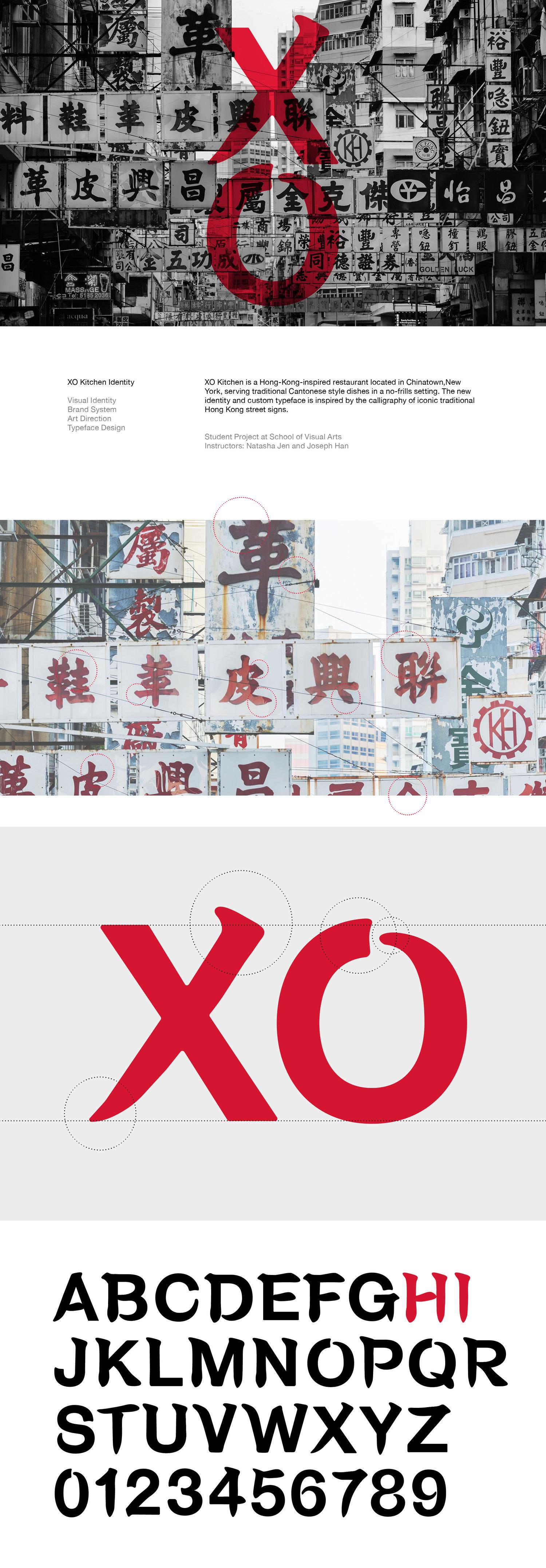 XO Kitchen Identity — Shanming Guo \