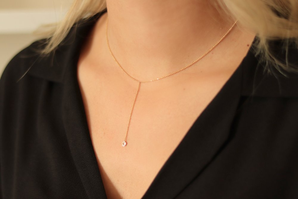 This  necklace  is STUNNING. It is a 14K yellow gold and diamond necklace and so pretty and dainty. It is a Zoe Chicco piece. This is at the top of my wish list.