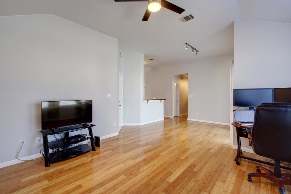 Beautiful Bamboo Hardwood floors.