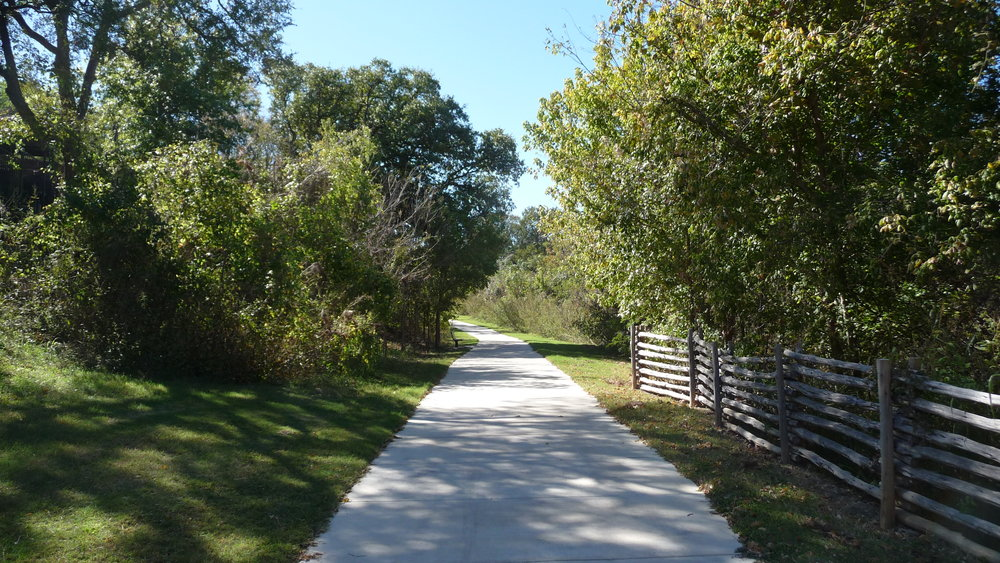The enterance to the Brushy Creek Trail.
