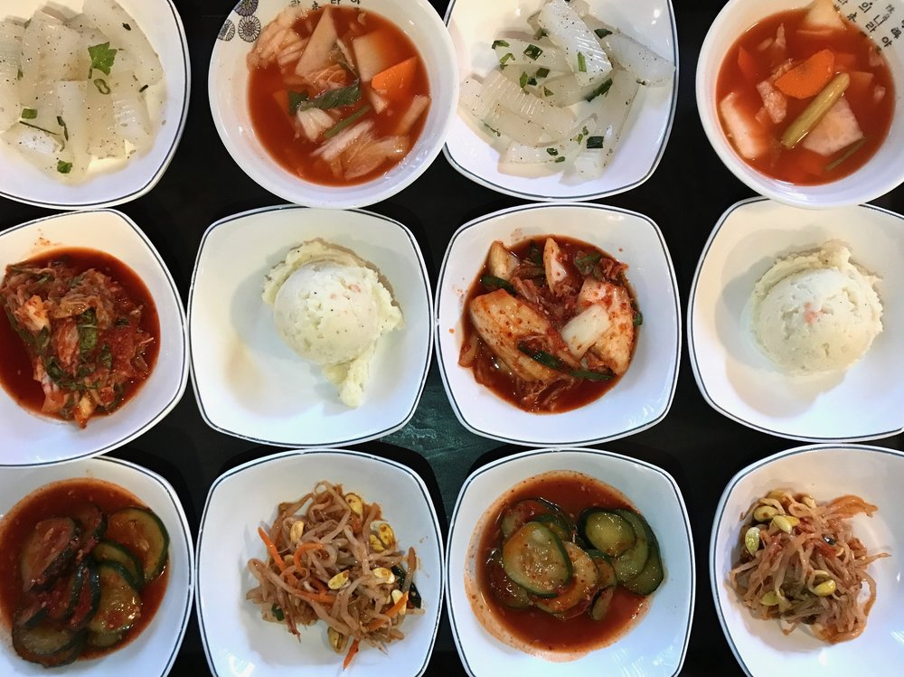 Banchan (from Korean: 반찬; 飯饌; banchan [pan.tɕʰan]) is a collective name for small side dishes in Korean cuisine. -