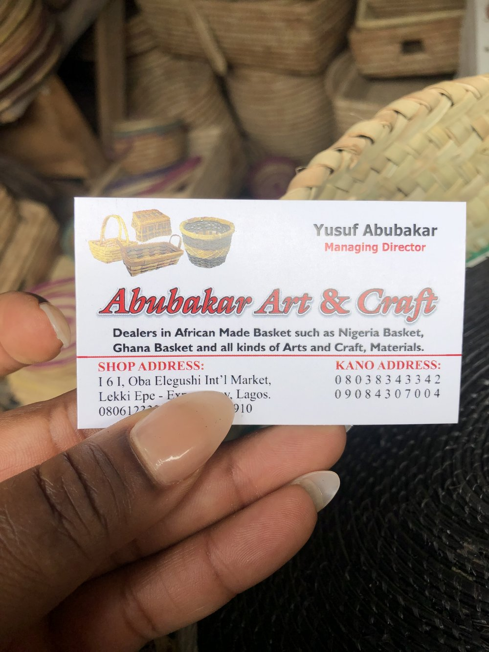 - If you are ever in Lagos, Nigeria, look him up and tell him I sent you.