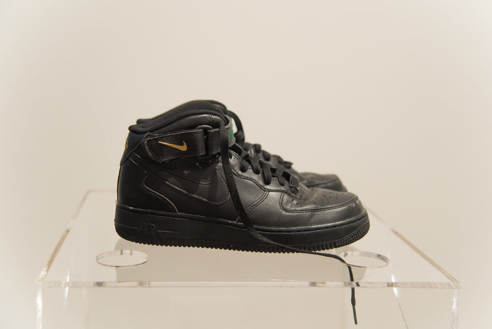 Nike ID #1 , Nike ID Tag customized Nike Air Force One mid-top shoes, 2017