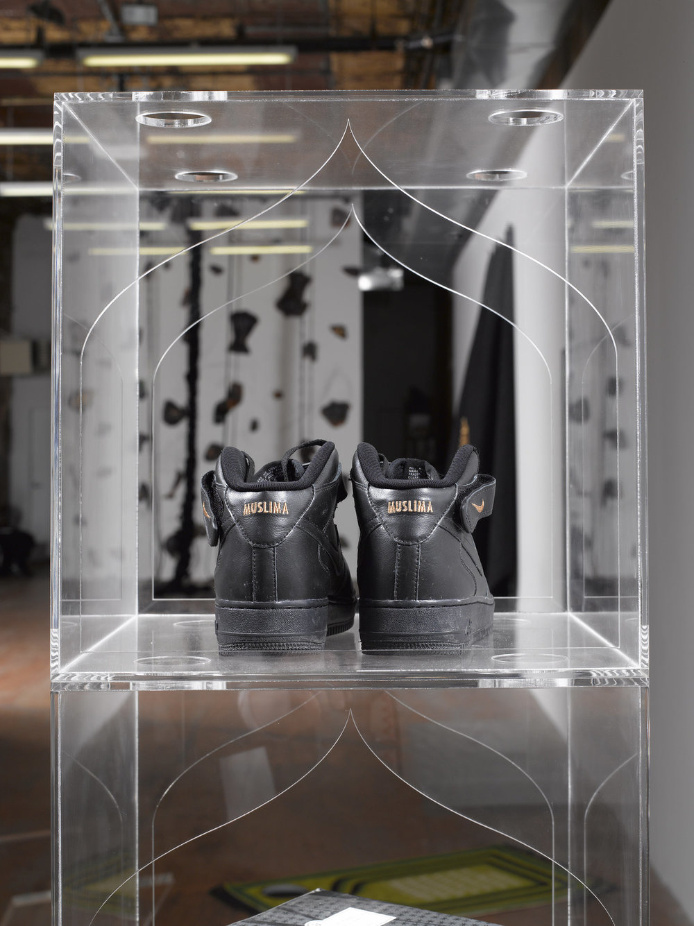 Nike ID #1  and  Shoe Shelves , Nike ID Tag customized Nike Air Force One mid-top shoes, 2017