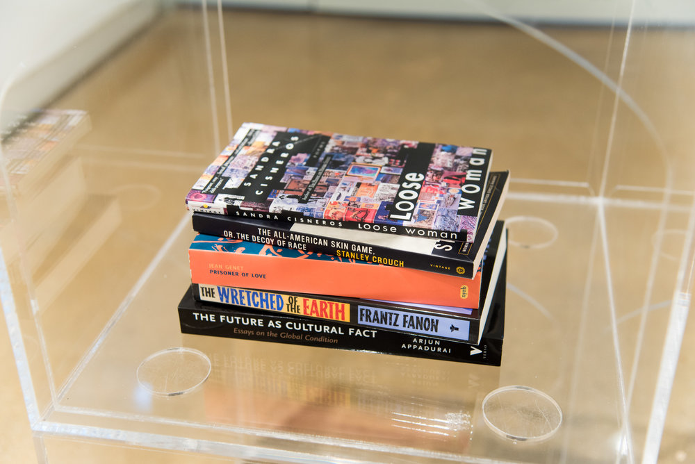 Books of Research , Stack of books selected by the artist, 2017