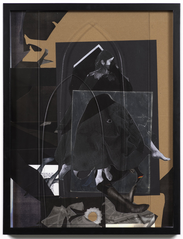 Disbelief , 2018, chromogenic print, cardboard, acrylic, 24 x 18 inches