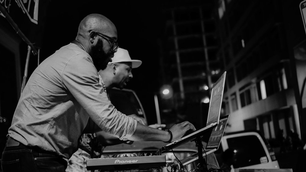 Photo of DJ Jahsonic, DJ Adrian Loving by Paris Preston