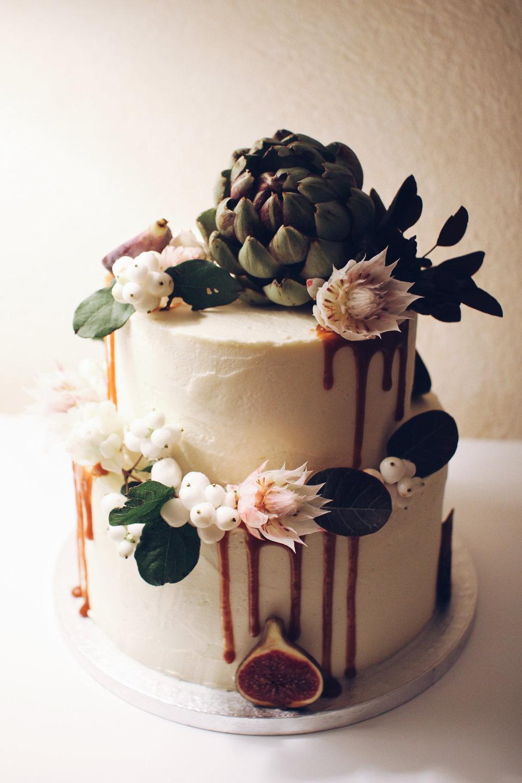Boho torta za poroko.