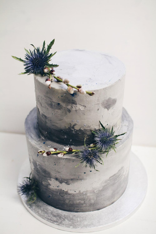 Moderna concreate cake.