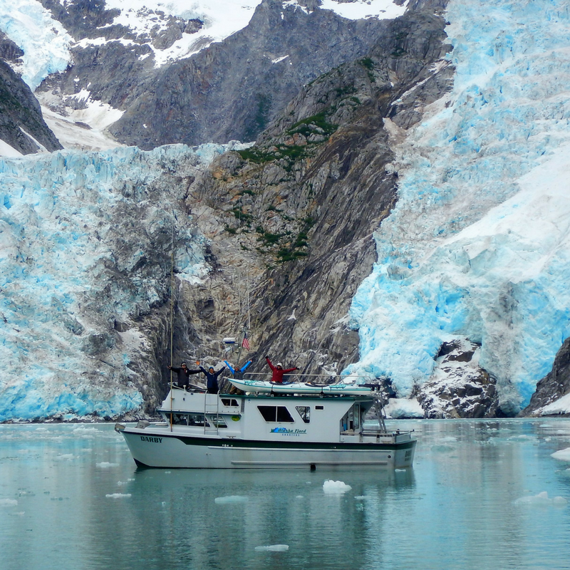 Glacier viewing up close on one of our Multi Day Seward Boat Tours