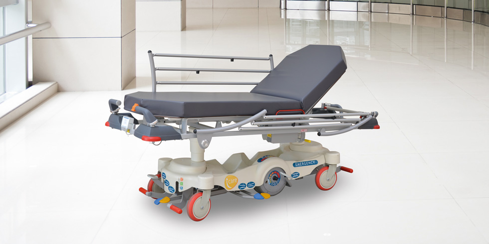 I-CARE EZ-GO - Motorised stretcherI-CARE EZ-GO is a motorized stretcher.It is equipped with a self-powered motorized wheel, and its own built-in battery. It has a battery life of 15 kilometres with a 5-hour battery charging time.click here for the online brochureClick here for more details