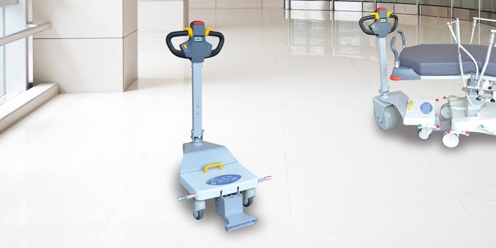 CLICK & MOVE - Motorized tractor for stretchers and chairsCLICK & MOVE is a motorized traction unit with an autonomous wheel.Perfect complement to a large park of stretcher, CLICK & MOVE requires a connexion on the stretcher (available on after sales).Click here for the online brochureClick here for more details