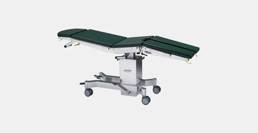 Medifa 5000 serie basic - The mobile basic operating table medifa 5000 BASIC is a solid day surgery table that can be used as a field operating table or an emergency patient trolley under extreme conditions without permanent power supply.click here for the online brochure