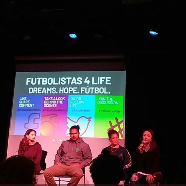 #Repost @futbolistas4lifefilm ・・・ Pic from our Friday screening with the @sflatinofilm at @eastsidearts in #Oakland. Thank you for taking the photo @julayneelle! . . . . .