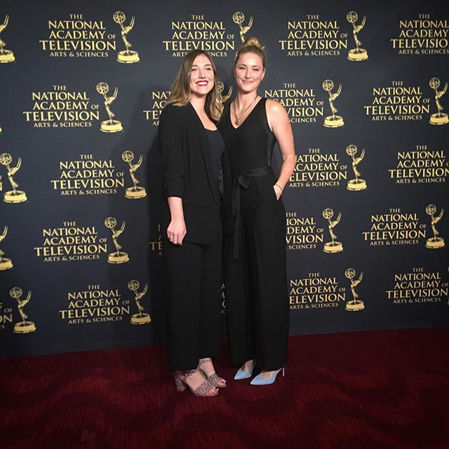 """Also a huge congratulations to the #Glassbreaker team nominated for a National News and Documentary #Emmy Award last night as part of the """"Locked Up"""" project from @revealnews!!!!! Pictured here is senior producer/program director @aubrey.adenbuie and filmmaker @oliviamerrion. Not pictured is the rest of the incredible team of producers and reporters who brought this project to life, including @emilyharger, Rachel de Leon, Amanda Pike from the video/GBF side. Truly an honor to support this work and these filmmakers. As always, thank you to the HGB Foundation for making that possible. 👏🏼👏🏼👏🏼👏🏼👏🏼👏🏼👏🏼👏🏼👏🏼👏🏼👏🏼👏🏼👏🏼👏🏼👏🏼👏🏼👏🏼👏🏼👏🏼👏🏼👏🏼"""