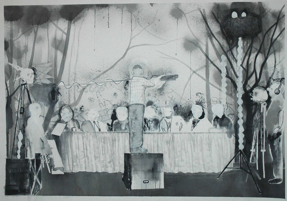 Second to last supper, acrylic on canvas, 3'x4', 2011