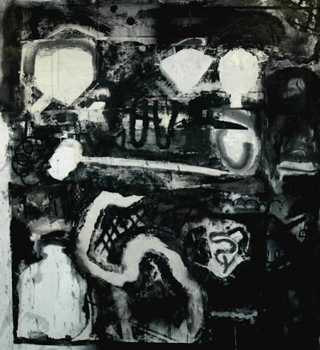 Origins 2, acrylic on linen, 6'x7', 2010
