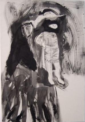 Orpheus, 2'x3', acrylic on linen, 2010