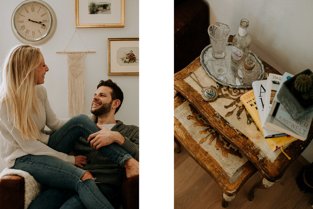 cozy home story couple photoshoot