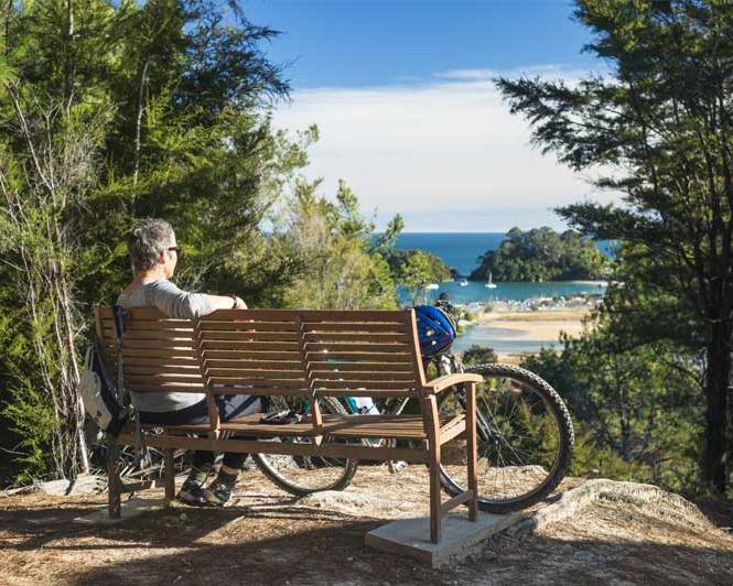 Great Taste Trio - 5 days from $650 NZDMapua - Motueka - Kaiteriteri - Abel Tasman National ParkOne of our most popular rides, spending 2½ days cycling &2½ days staying in beach front lodges in the Abel Tasman National Park.