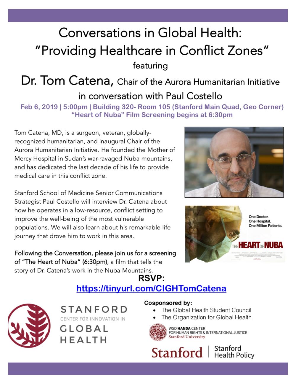 Providing Healthcare in Conflict Zones - Feb 6, 2019