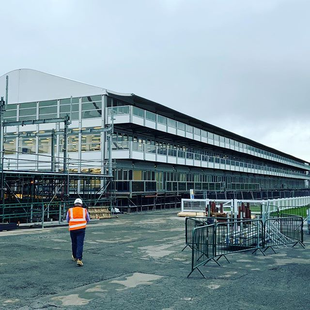 A #blankcanvas awaits at @cheltenhamraces Racecourse - #CheltenhamFestival production is well and truly underway & we can't wait to share the final product with you all! #creatingadesigndifference @thejockeyclub #InteriorDesign #GraphicDesign #Hospitality #Events #ProductionMeetings