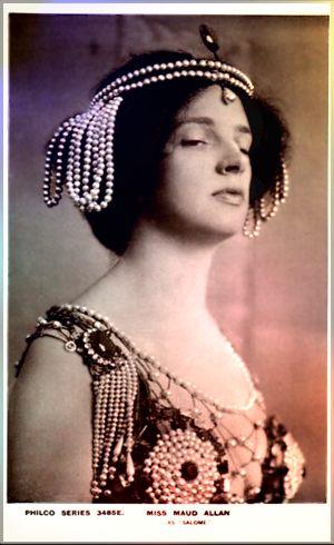 Maud Allan, Oscar Wildes Salome. Ville hun lokke engelske ladies inn i Klitoriskulten?