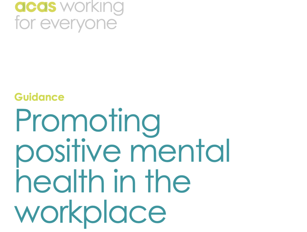 Promoting Positive Mental Health Guide:    To identify solutions to specific workplace stressors (p12) and use different channels to bring up the conversation (p17)