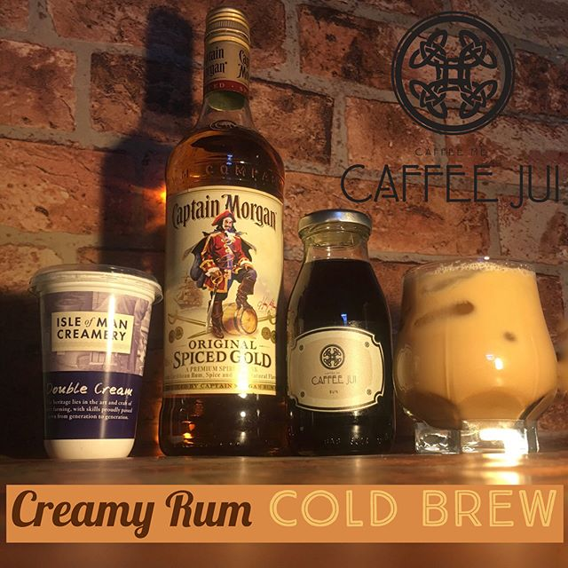 Caffee Jui and Cocktails... What could be better? 😆  Gather Together Your Ingredients: 150ml of Caffee Jui 50ml Cream 50ml Spiced Rum · Pour Into A Cocktail Shaker  Shake! Shake! Shake! · Enjoy Over Ice ❄️❄️ #NotAlwaysHot #CaffeeJui #ShopLocal #Manx #LocalProducts #IsleofMan #ColdBrew #ColdBrewCoffee #ColdBrewCocktail #Rum #IsleofManCreamery #CoffeeCocktail #foodporn #instafood #foodie #foodstagram #foodgasm #foodpics #foodpic #love #instagood #photooftheday #instamood #tweegram #picoftheday #beautiful #instadaily #instagramhub #igdaily #followme