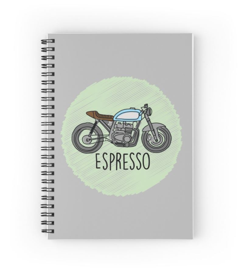 Espresso Cafe Racer - (Available on a wide range of products through RedBubble)
