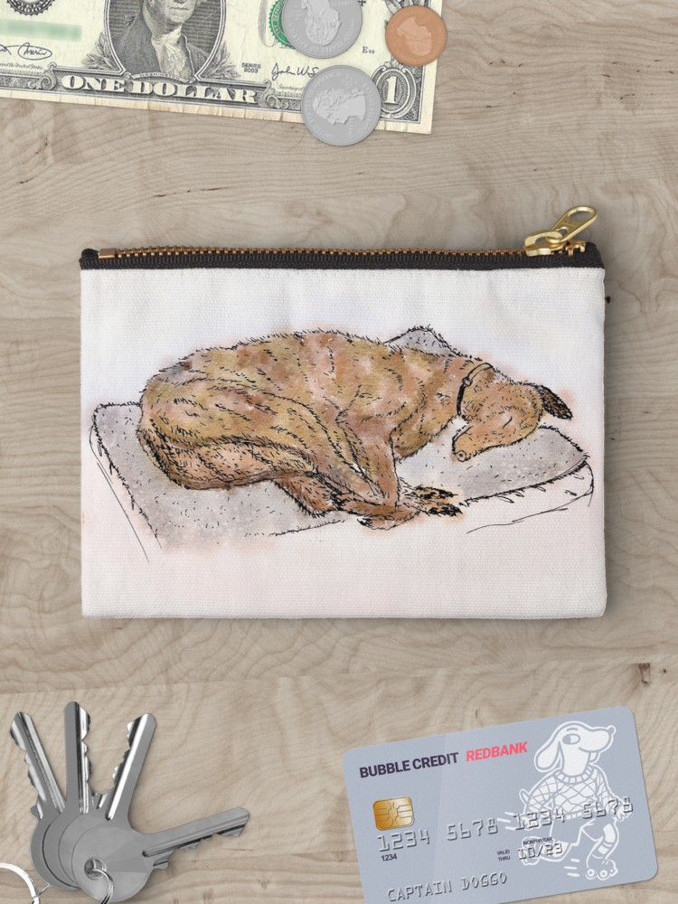 Study of a sleeping greyhound - Available on a wide range of products through RedBubble