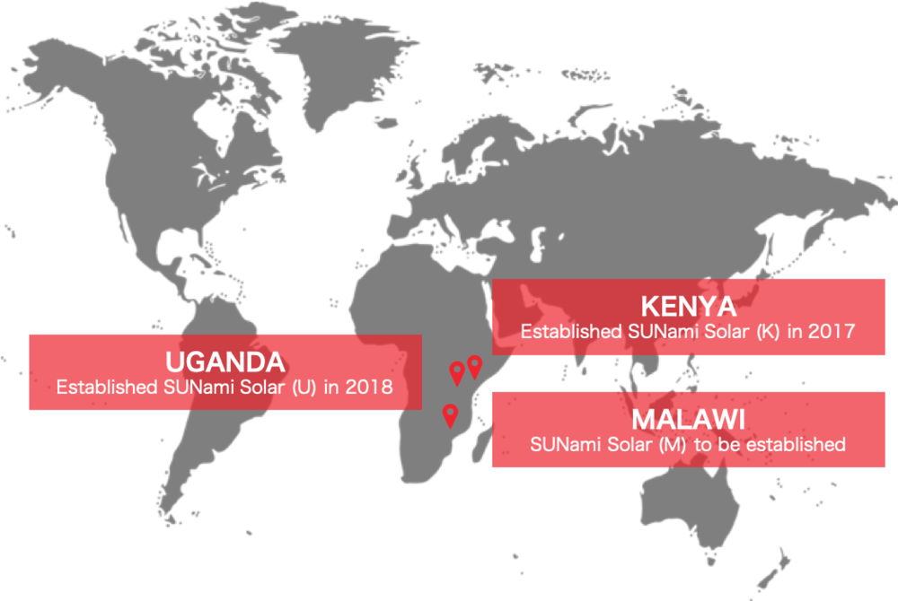 our coverage - We established our first office in Kenya in 2017 and have to this day over 320 active customers and 15 employees. In 2018, we established an office in Uganda. In Malawi, we work through partners.